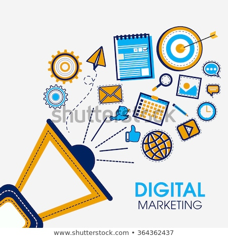 целевой Бизнес-сеть бизнеса Новости контакт сеть Сток-фото © 4designersart