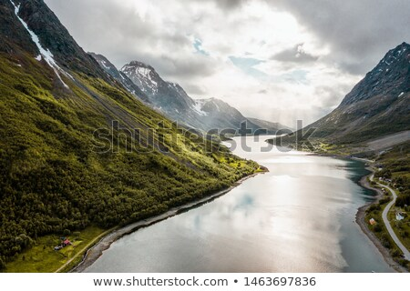 View of the Geiranger fjord on a rainy day. Stock photo © borysshevchuk