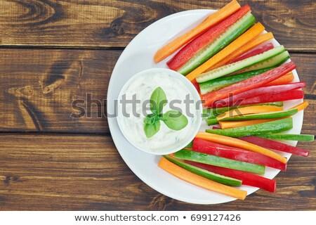 野菜 スティック ディップ 食品 サラダ ニンジン ストックフォト © M-studio