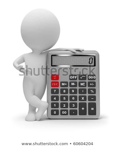 3d small people   calculator stock photo © anatolym