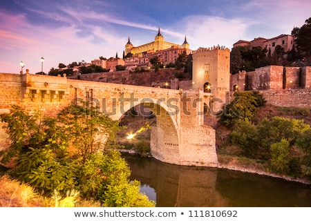 吊り橋 · 川 · スペイン · 通り · デザイン · 背景 - ストックフォト © kyolshin