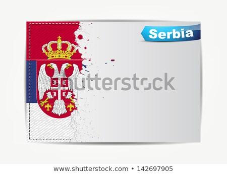 кадр · флаг · Черногория · изолированный · белый - Сток-фото © maxmitzu