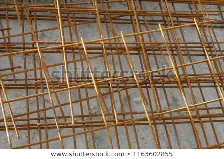 aço · barras · rolar · em · linha · reta · materiais · de · construção · construção - foto stock © stevanovicigor