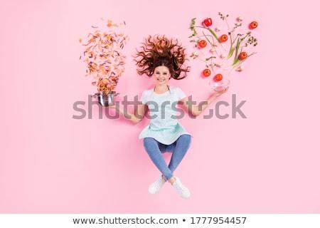 kleurrijk · ruw · pasta · peterselie · blad - stockfoto © lithian