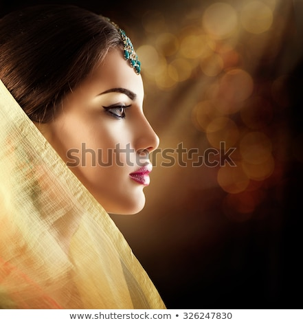 Esmer Hindistan profil moda portre Stok fotoğraf © lunamarina