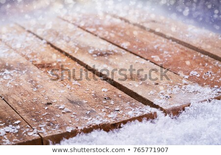 benches with table in the snow stock photo © aikon