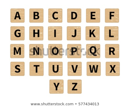black wooden background with alphabet vector illustration stock photo © adamson