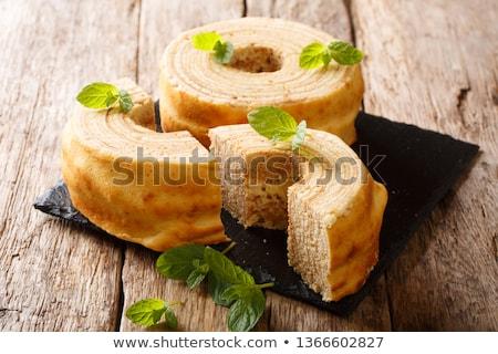 Kek geleneksel gıda tatlı sarı tatlı Stok fotoğraf © artlens