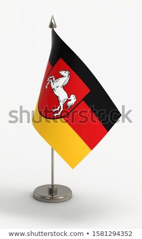 Miniature Flag of Saxony Stock photo © bosphorus