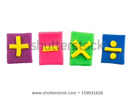 mathématiques · ensemble · quatre · symbole · 3d · illustration · signe - photo stock © make
