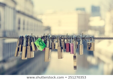 Love locks as a symbol of happy wedding Stock photo © Artspace