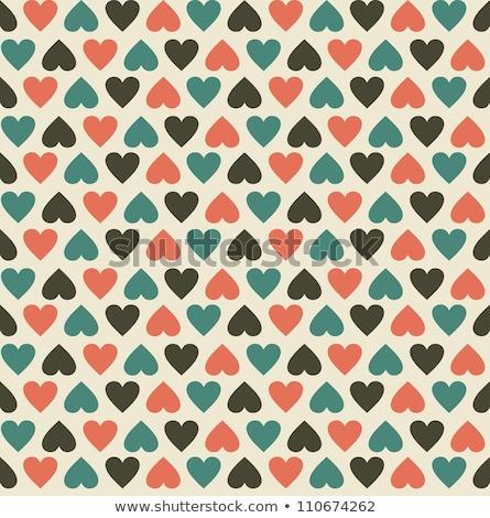 Sem costura coração padrão retro casamento amor projeto Foto stock © creative_stock