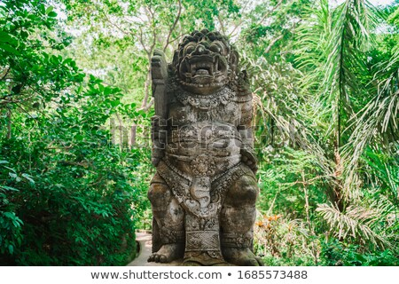 pedra · templo · guardião · bali · estátua - foto stock © pzaxe