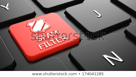 Spam Filter on Red Keyboard Button. Stock photo © tashatuvango