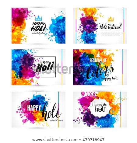 Banner and header set grunge holi with colorful colours splash.  Stock photo © bharat