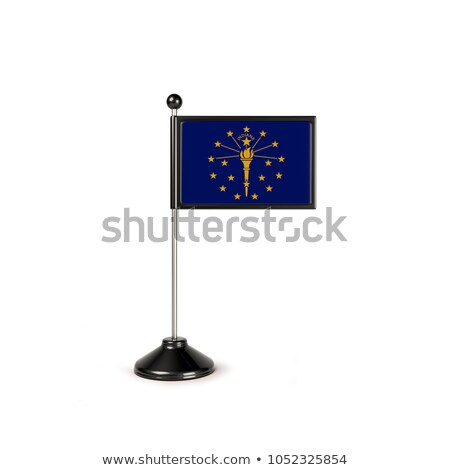 Miniature Flag of Indianapolis Indiana stock photo © bosphorus