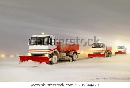 kar · karayolu · kamyon · soğuk · kış · gün - stok fotoğraf © aetb