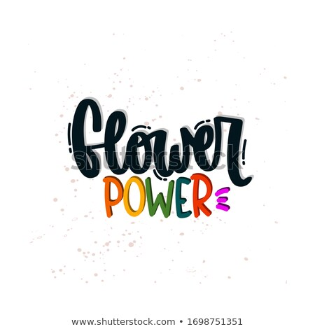 flower · power · festa · discoteca · azul · energia · poder - foto stock © peterhermesfurian
