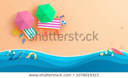 Nyári vakáció portré szexi modell pózol tengerpart Stock fotó © Anna_Om