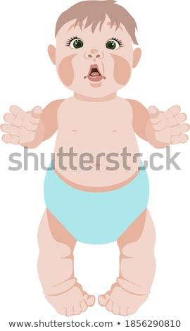 Funny baby sucking a dummy isolated on white background Stock photo © Nejron