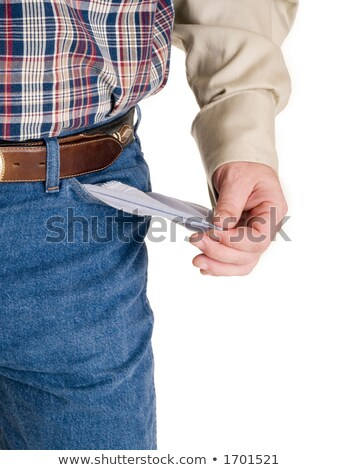 Broke cowboy with pockets turned out Stock photo © dgilder