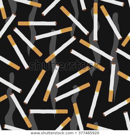 Sigara popo soyut yalıtılmış beyaz Stok fotoğraf © boroda