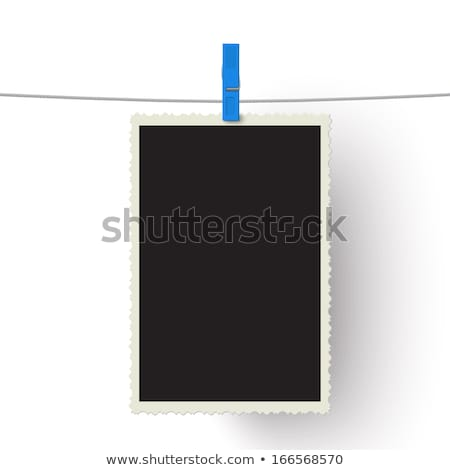 Photography paper with instant photo frame attached to rope with Stock photo © stevanovicigor