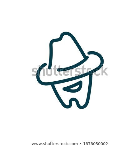 Cartoon cowboy with an evil smile Stock photo © antonbrand