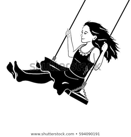 Little girl rápido corda parque céu menina Foto stock © anmalkov