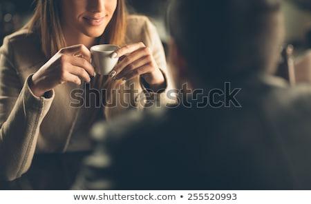 Bájos flört izolált fekete lány szexi Stock fotó © 26kot