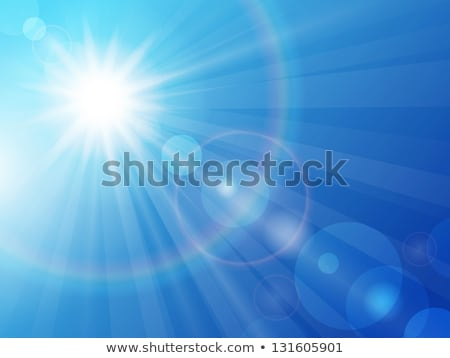 Stock photo: Blue sky with glaring sun