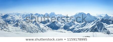 dağlar · gökyüzü · manzara · kar · mavi · seyahat - stok fotoğraf © diabluses