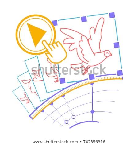 Logoterv animáció stúdió macska művészet grafikus Stock fotó © Viva
