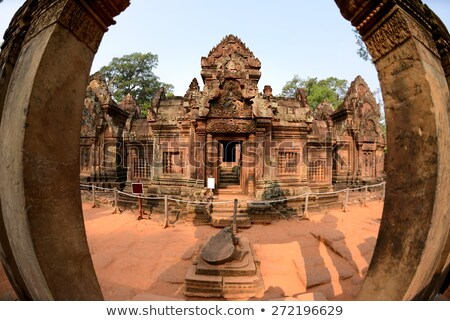 banteay srei temple entrance cambodia stock photo © tuulijumala