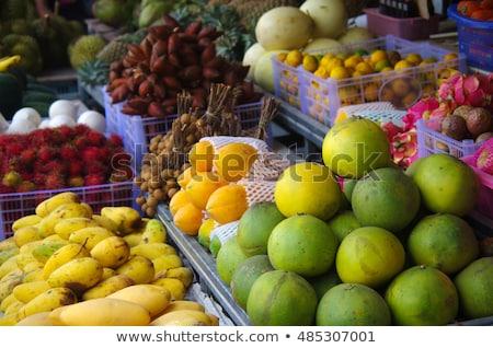 Longan in fruit market for background Stock photo © yanukit