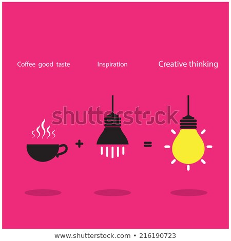 Inspiration and coffee good taste  can be created the best job. Stock photo © chatchai_stocker