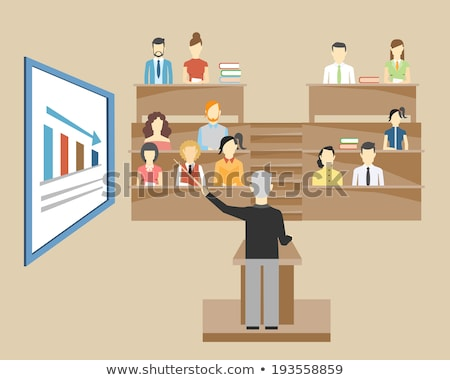 Audience sitting in tiered seating Stock photo © d13