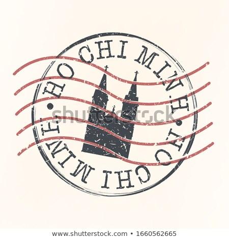 Po pieczęć Wietnam wydrukowane śmigłowca sztuki Zdjęcia stock © Taigi