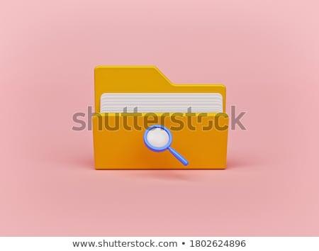 Klasör 3D ikon bilgisayar ofis kâğıt Stok fotoğraf © koya79