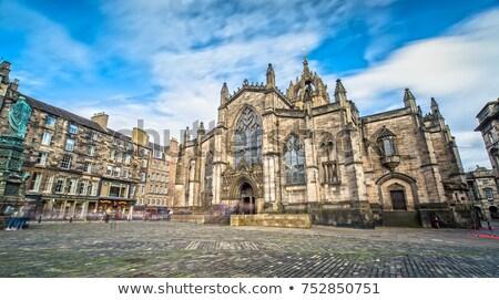 大聖堂 エディンバラ スコットランド 空 教会 青 ストックフォト © elxeneize