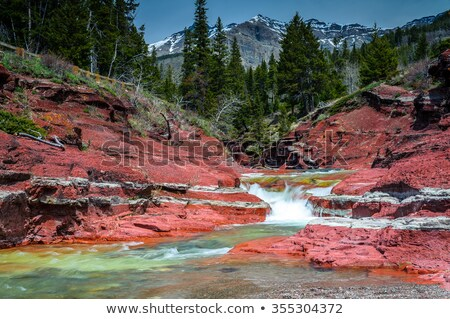 Red Rock Canyon In Waterton Lakes Stock photo © jameswheeler
