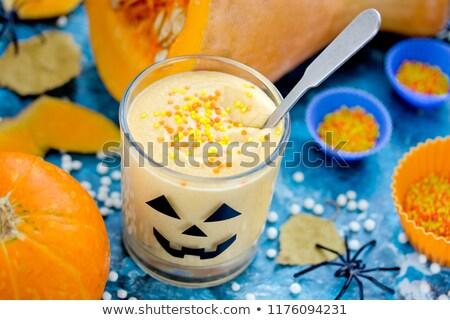 Pumpkin panna cotta Stock photo © joannawnuk