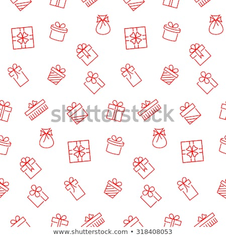 seamless pattern of gift packages christmas gifts stock photo © elenapro