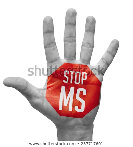 Stop MS on Open Hand. Stock photo © tashatuvango
