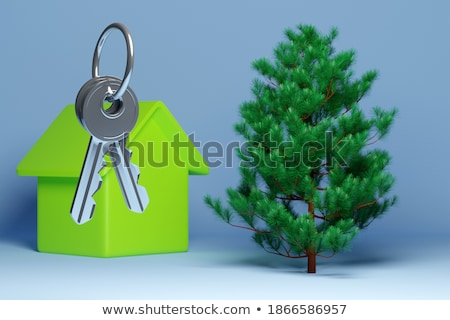Cottage layout-green life Stock photo © Pruser