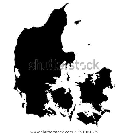 Harita Danimarka farklı renkler beyaz doku Stok fotoğraf © mayboro1964