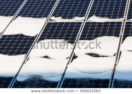 太陽 雪 冬 屋根 技術 青 ストックフォト © karin59