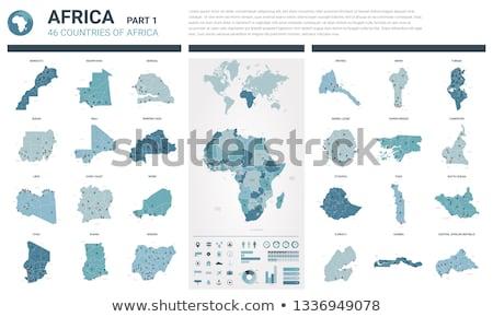 Térkép köztársaság Csád különböző betűk fehér Stock fotó © mayboro1964
