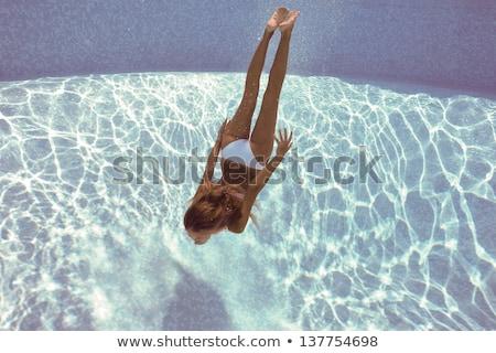 Underwater woman portrait in swimming pool Stock photo © dashapetrenko
