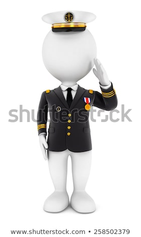 3d white people lieutenant Stock photo © 3dmask